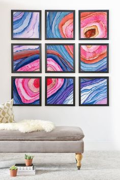 Viviana Gonzalez AGATE Inspired Watercolor Abstract 04 Framed Wall Mur | DENY Designs Home Accessories