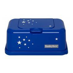 Dispensador de toallitas 'Azul noche estrella'. Disponible en www.mylittleplace.es €15'90