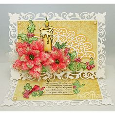 Delicate Holly Easel  project w/ Festive Holly collection from #HeartfeltCreations #Christmas