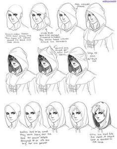 Drawing Tutorial Hoodie drawing tips - Art Reference Poses, Drawing Reference, Kissing Reference, Anatomy Reference, Manga Drawing, Figure Drawing, Anatomy Drawing, Drawing Drawing, Drawing Armor