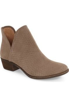 Lucky Brand 'Bashina' Perforated Bootie (Women) available at #Nordstrom I have heard these are super comfortable!