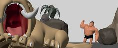 Had some downtime awhile back and did this little test with Grug from The Croods. One of the many cool things about working at DW is you have these great characters waiting around to be animated. The main purpose of this was to hit a couple flexing poses to test out some new muscle controls rigging was working on. They worked great!