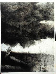 Safet Zec, tree, etching, cm 140 x 100