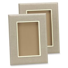 Faux Shagreen Picture Frame, Ivory #williamssonoma