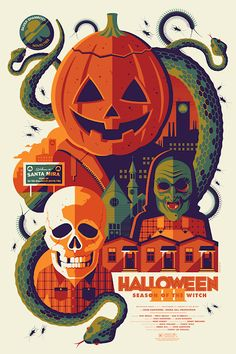 Image du film Halloween III : Season of the Witch (Tommy Lee Wallace) de Tom Whalen Masque Halloween, Halloween Iii, Halloween Drawings, Halloween Season, Vintage Halloween, Happy Halloween, Country Halloween, Halloween Hats, Halloween Ideas