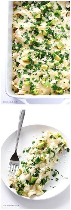 Crab & Avocado Enchiladas
