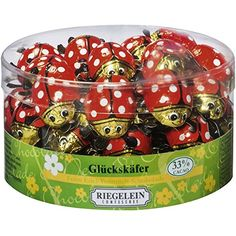 Riegelein Mini Chocolates   33% Cocoa Solid Mini Ladybugs (45 Pieces)