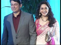 Madhuri Dixit at Esha Deol's wedding reception.