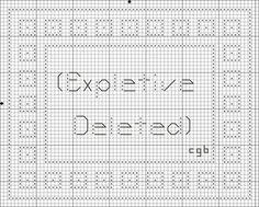 Free Snarky Cross Stitch Pattern - Free Snarky Counted Cross Stitch Chart