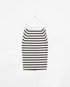 Striped white&black skirt - Zara.