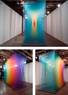 """Plexus"" Thread Installations by Gabriel Dawe 