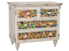 Colorful Designer Furniture on HGTV- The Mosaic Chest by Guildmaster- DIY for 1/2 the price