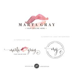 Cosmetic logo design Lips logo Premade Branding by GDLogoDesign