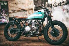Great looking Honda cb500 @ber_sardi  #caferacer #hondacb #honda  #cb750