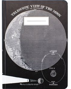 This notebook is a tribute to Earth's Moon, showing off vintage illustrations of our greatest satellite and its many phases. In classic black and white, this lunar book is a great place to wax poetic on the ever-changing phases of your love life, the rhythmic hum of your work life, or the ebb and flow of the scholastic year. It's a perfect gift for anyone you know who can often be found looking up. When you draft your lab notes or thesis in this notebook, you'll be old school and new school…