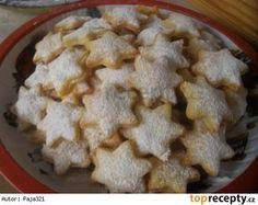 Tvarohovo-vanilkové hvězdičky Christmas Candy, Christmas Baking, Christmas Cookies, Czech Desserts, Czech Recipes, Meringue Cookies, Macaroons, Cookie Recipes, Food To Make