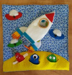 To the moon Quiet book travel toy felt book busy by TravelToys