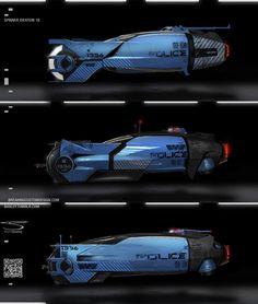 ArtStation - Blade Runner Spinner ideation, Shane Baxley