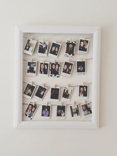 polaroid picture wall | dorm decor | DIY | 8 Dorm Decorations To Do Over The Summer | crafting | dorm crafts | pictures | memories