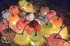 Zauberschöne Muffinförmchen - Lichterkette