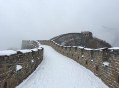Snow at the Mutianyu Great Wall