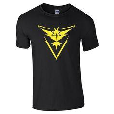 Pokemon Go Mens T Shirt Slim Fit Crew Neck T-shirt Men Short Sleeve Shirt Casual tshirt Tee Tops Team Mystic Mens Short Shirt