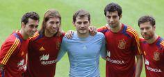 Arbeloa, Sergio Ramos, Iker, Raúl Albiol, Xabi Alonso... Madridistas with La Roja...
