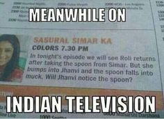 Meanwhile On Indian Television (Funny Weird Pictures) - #india #meanwhile #spoon…