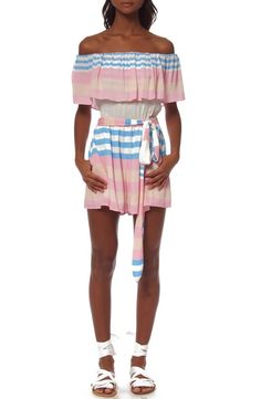 Pin for Later: 31 Beach Cover-Ups That Aren't Your Average Caftan  Mara Hoffman 'Wheatfield' Off the Shoulder Cover-Up Romper ($236)