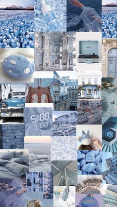Blue theme iPhone wallpaper