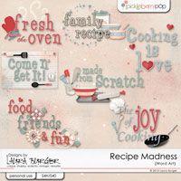Recipe Madness Word Art