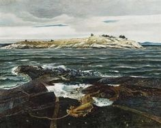 Little Caldwell's Island By Andrew Wyeth ,1940
