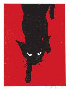 Black Cat 1 Stampa giclée