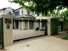 Hindmarsh Fencing and Wrought Iron Security Doors - Gates Wrought Iron Security Doors, Electric Gates, Automatic Gate, Driveway Gate, Fencing, Home Remodeling, Garage Doors, Yard, Exterior