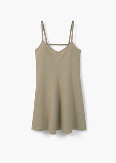 Linen strap dress | MANGO