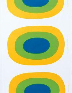 Melooni yellow interior fabric by Marimekko Textiles, Textile Patterns, Textile Prints, Textile Design, Print Patterns, Scarf Patterns, Marimekko Fabric, Graphic Design Pattern, Yellow Interior