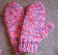 Midwestern Mittens, Extra Chunky by Lion Brand Yarn