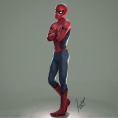 Spider-Man!! Art by @illustreyts #SpiderMan #Homecoming #Avengers #CivilWar #Marvel #MarvelComics #Comics #ConceptArt #Art #Artist #Superhero