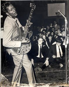 Chuck Berry in Memorial Gymnasium, April 1965 by Ed Roseberry