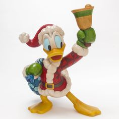 This delightfully oversized Donald Duck rings in the holidays with a whimsical combination the lovable, if somewhat hapless, Disney character with the colorful artistry that is unmistakably Jim Shore.