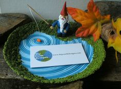 Gnome Fishing Pond Decorative Bowl For Keys by HipEarthDesigns, $65.00