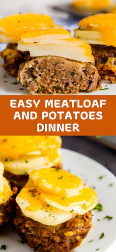 This Easy Meatloaf and Potatoes Dinner gives you meat and potatoes all in one delicious shot! And best of all, dinner's on the table in just around 30 minutes! - The ingredients and how to make it please visit the website Eay Dinner Recipes, Winter Dinner Recipes, Breakfast Recipes, Dinner On A Budget, Dinner Ideas, Potato Dinner, Easy Meatloaf, Recipes For Beginners, Beachbody