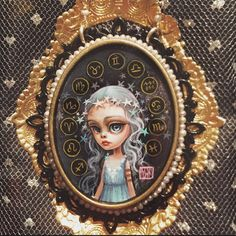 "Mab Graves Original ""Zodiac Girl"" Cameo from Madison Hromadka's personal collection"