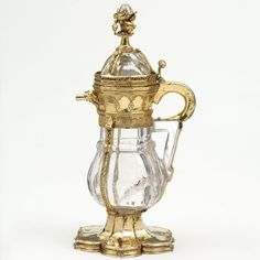 *Rock crystal ewer, with silver-gilt and enamel mounts, France, probably Paris, 1340–50.