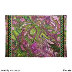 Swirls Placemat #Swirl #Decorative #Design #Home #Decor #Zazzle #Placemat