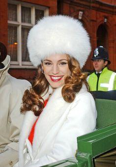 Kelly Brook Fur Hat