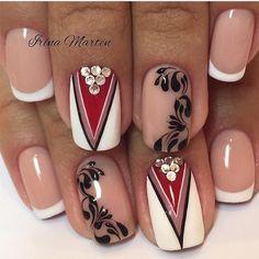 Irina Marten: una nail artist que marca tendencia French Manicure Gel, French Nails, Nail Manicure, Crazy Nail Art, Crazy Nails, Nail Swag, Fabulous Nails, Perfect Nails, Silver Nails