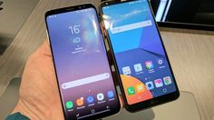 Two of the best smartphones of the moment, side by side: Samsung #GalaxyS8 vs LG #G6