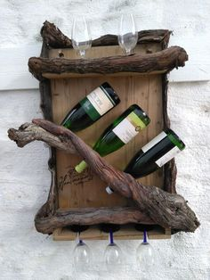 Key Pieces Of Rustic Wine Cabinet Ideas 64 Wine Rack Wall, Wine Glass Holder, Wine Bottle Holders, Wine Wall, Unique Wine Racks, Rustic Wine Racks, Rustic Wine Cabinet, Rustic Shelves, Vin Palette