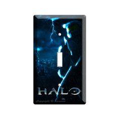 Halo odst Master Chief acid  rain single light switch cover plates children boys gamer  game room man Cave garage art  decoration 1 2 3 4